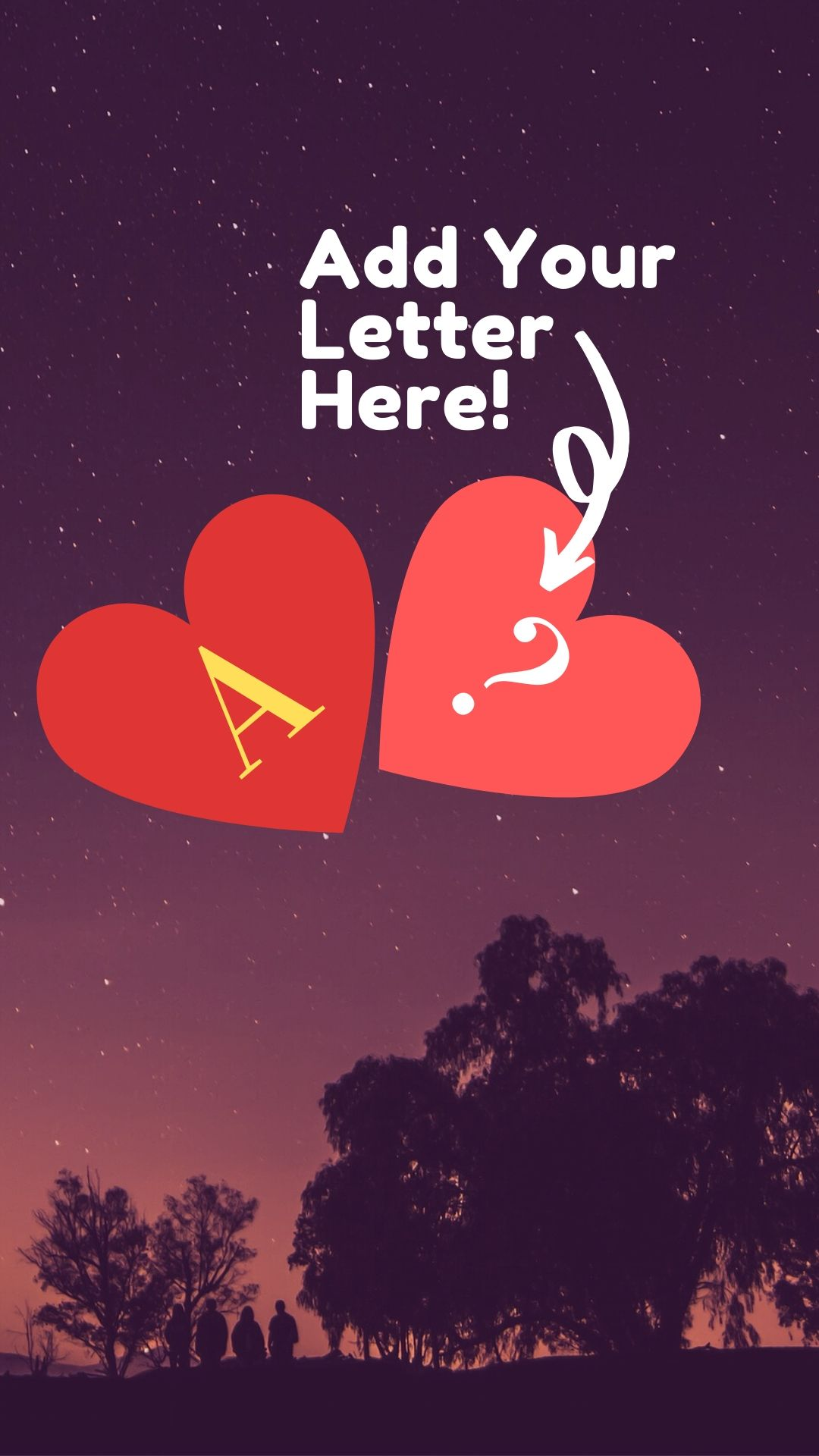Images Of Letter A In Heart Together With Other Letter Free Muddoo