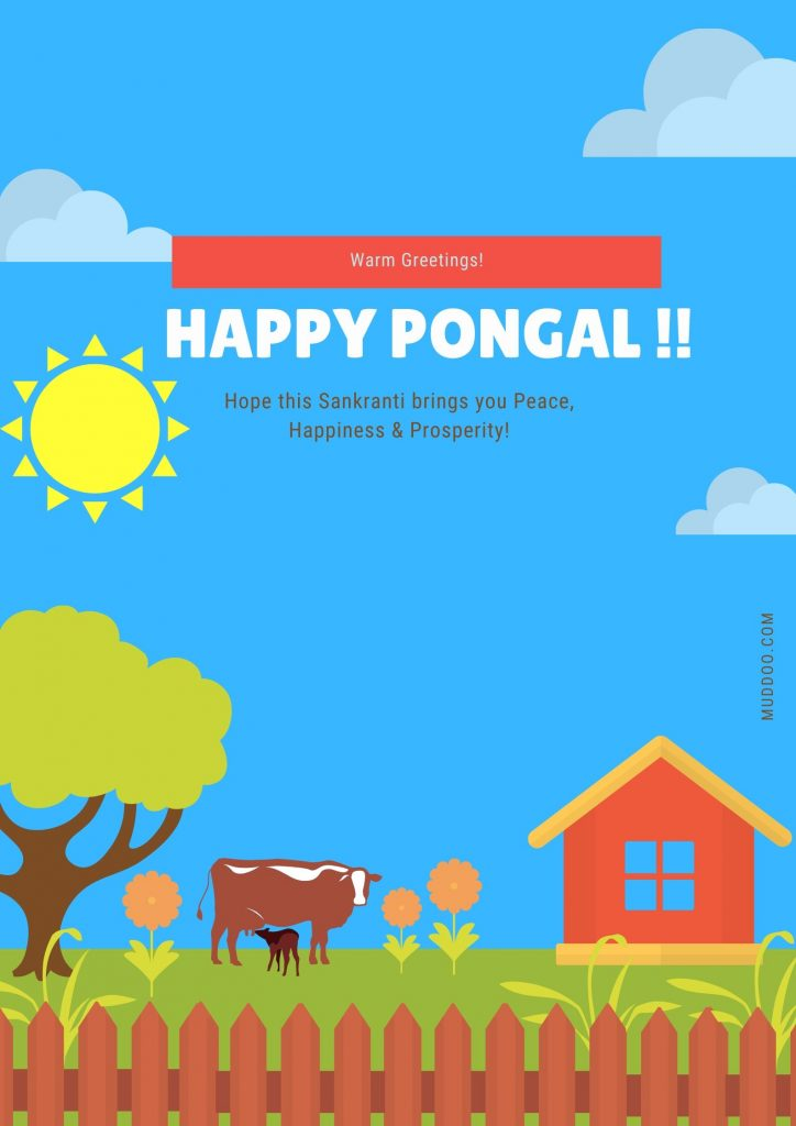 Happy Pongal & Makara Sankranti 2020 Free HD Image Download