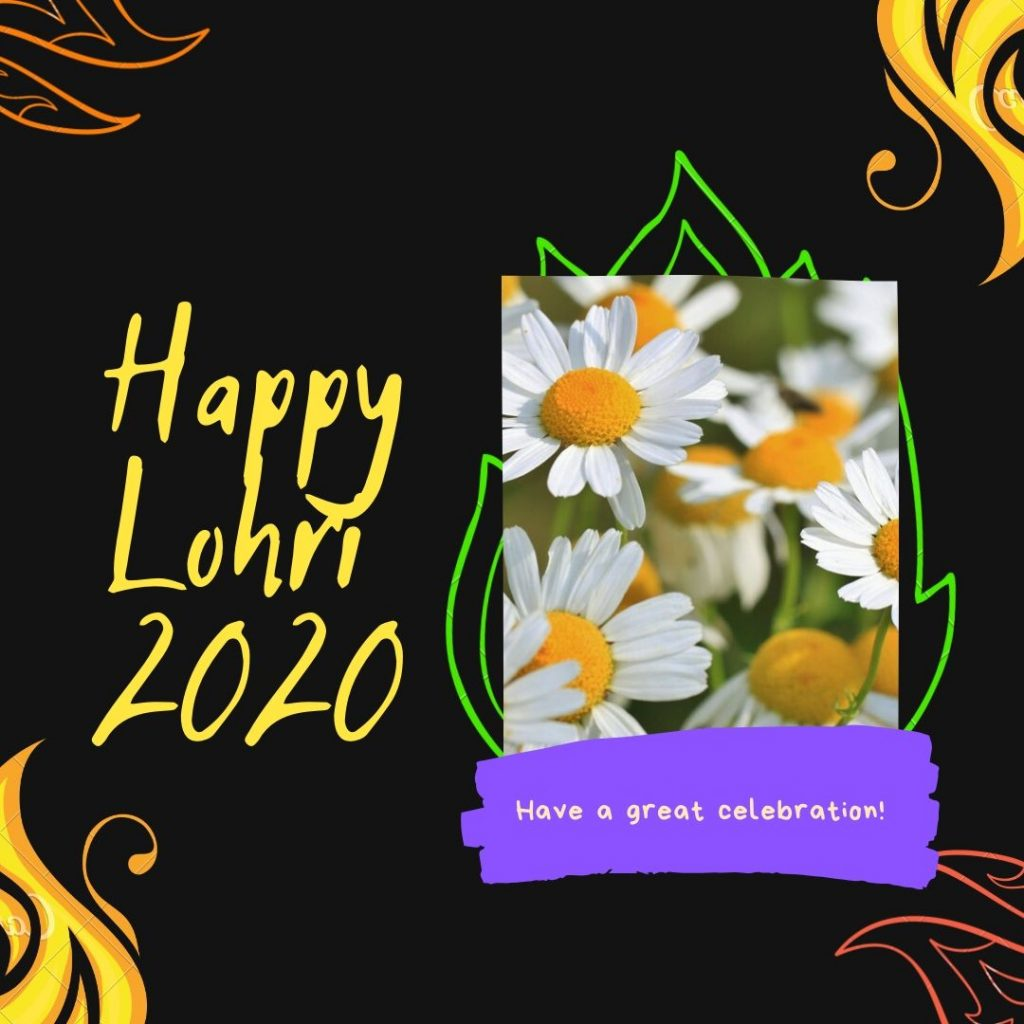 Happy Lohri 2020 Greeting card Image Download in HD For Free