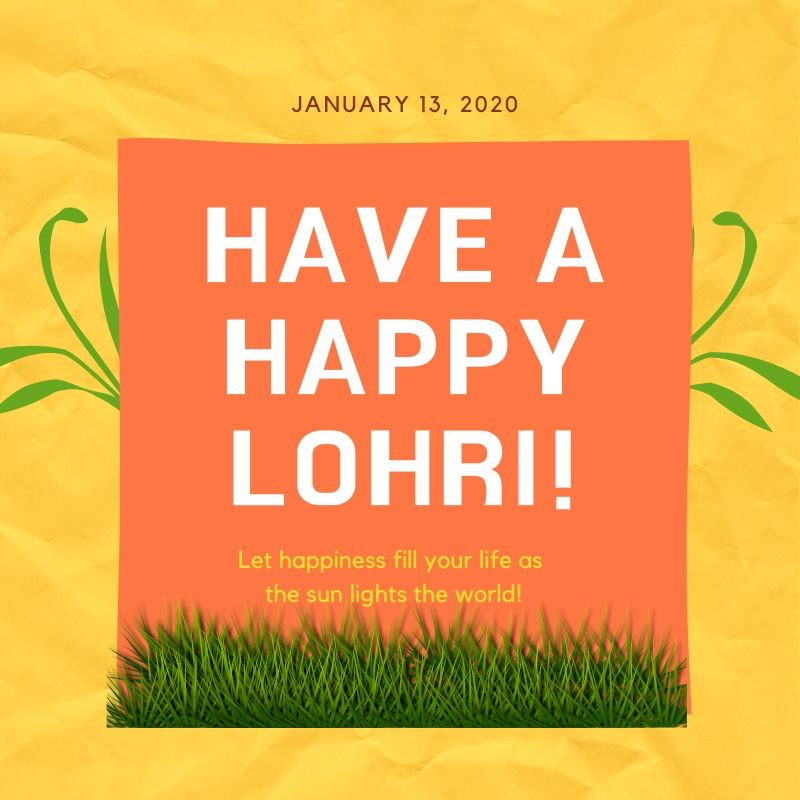Happy Lohri 2020 Wishes Image Download in HD For Free