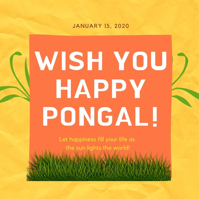 Happy Pongal 2020 Best Wishes Image Download
