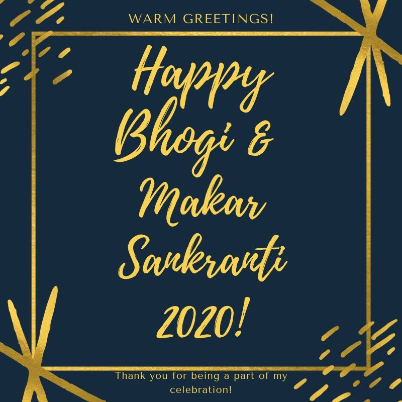 Happy Bhogi & Makar Sankranti 2020 Best Wishes Image Download For Free