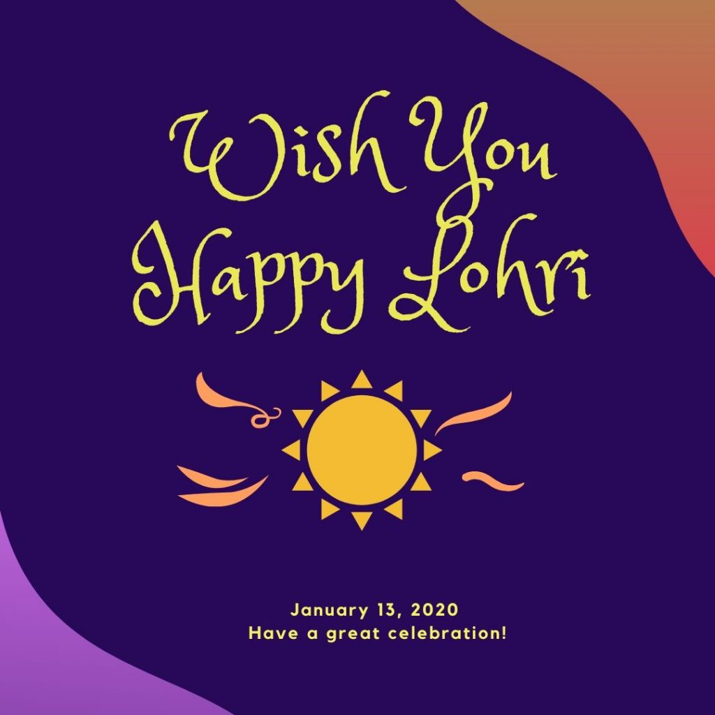 Wish You A Very Happy Lohri 2020 Free Image Download