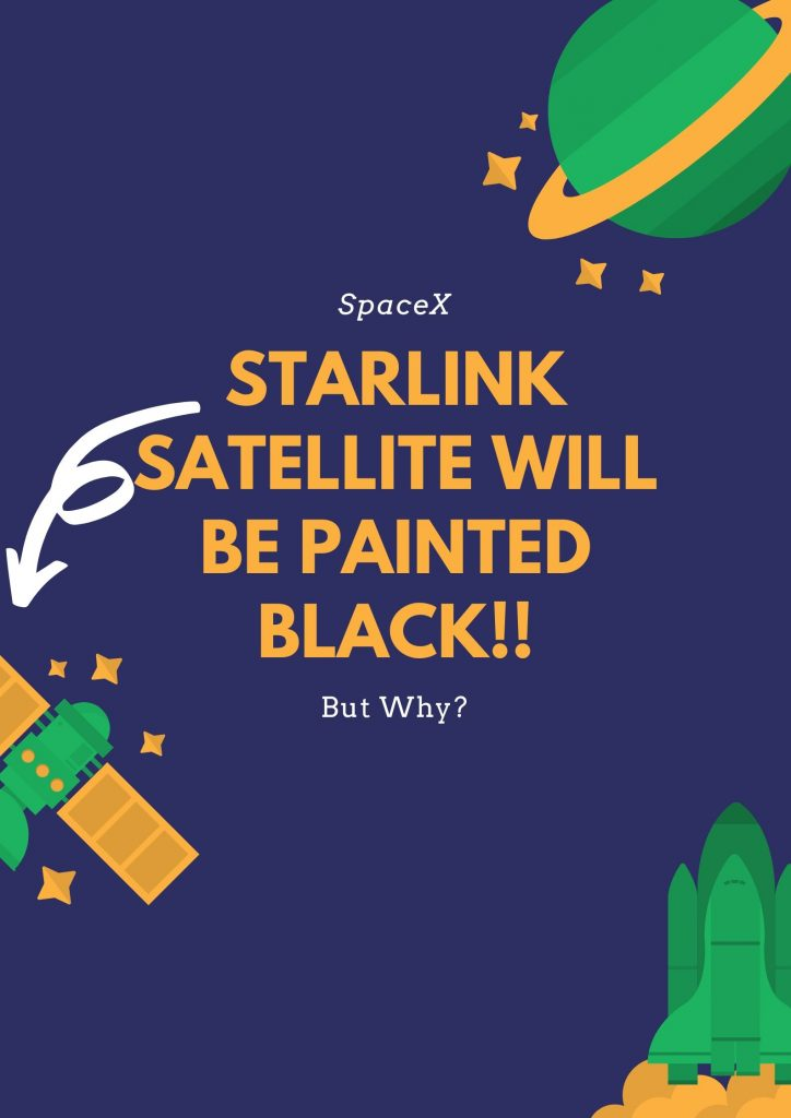 SpaceX Starlink Satellite will be painted black