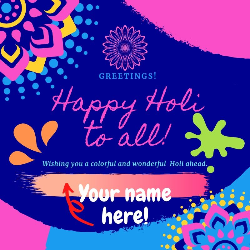 Happy Holi 2020 Image Free Download With Name