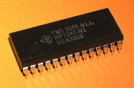 A Texas Instruments Microprocessor IC chip